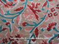 Floral sanganeri bloque estampada a mano puro algodón natural 100% batista corriendo la tela fabricante