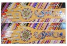 Body Art Mehndi Indian Glitter Hand Sticker Tattoo Pack Of 2 Henna Fake Tattoo Gift For Her-BIN698