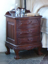 Chippendale antique carved bedside table