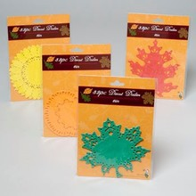DOILIES HARVEST DIECUT 32CT 6IN 4STYLE PUMPKIN/SUNFLOWER/LEAVES #G89850