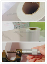 100% opacity 130um PVC film Self-adhesive Avery quality white sticker roll for printing advertising design