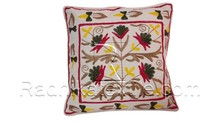 RTHCC-95 Vintage Stylish Suzani Embroidery Cotton Material Cushion / Pillow Covers Manufacturs