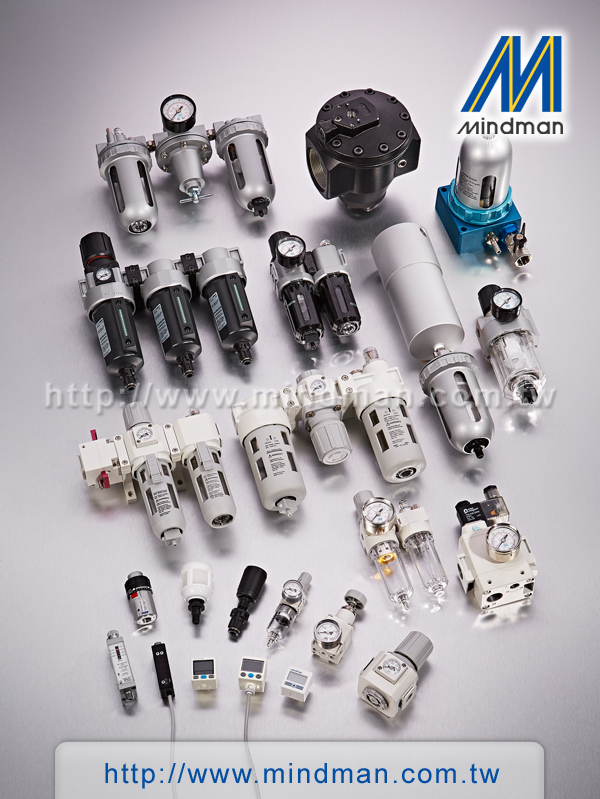 Mindman air regulator, Air filter combination FRL, filter regulator, lubricator, MAR500 series