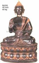 Handmade Casting Vintage Golden fInish Bronze Buddha Murti
