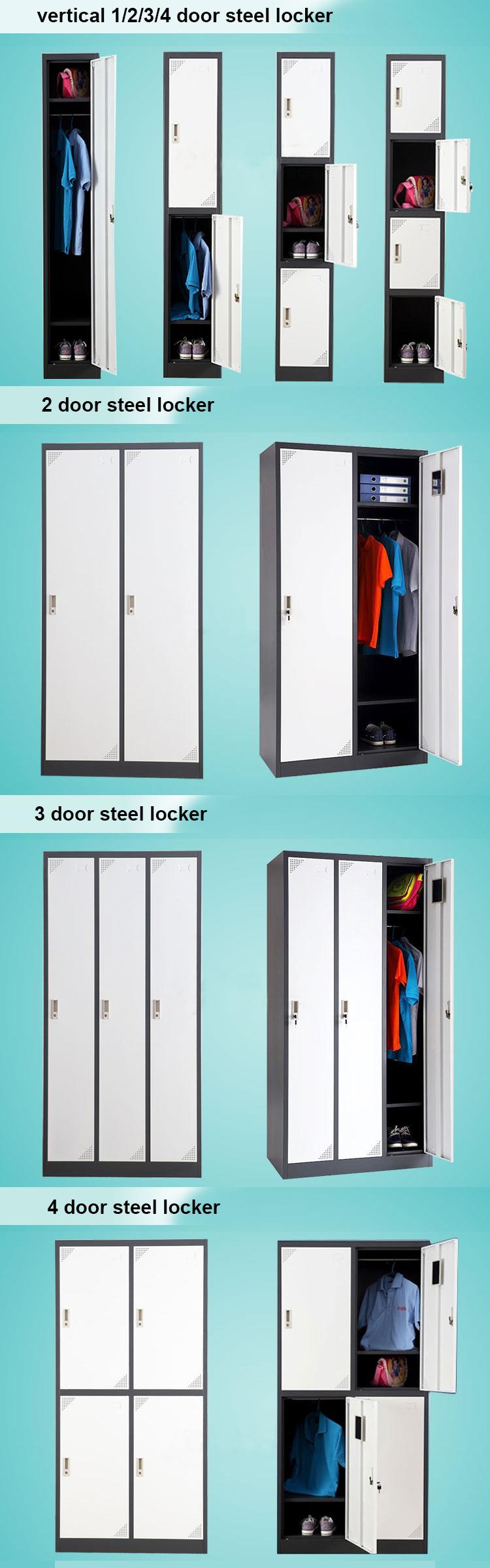 Metalen opbergkast in staal met dubbele deur inserts en lade ...