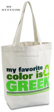 organic recycle cotton shopping/promotional tote bags wholesale