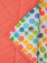 BRBQ- 22 Colored Polka Dot Handblock Baby Kantha quilt cover handmade cotton Bed Cover or Blanket Indian bedding bedspread ralli