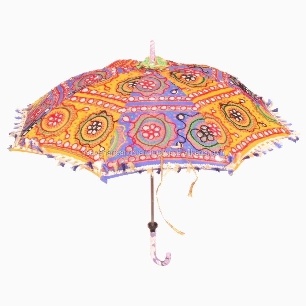Vouwen zomer paraplu katoen zari zware borduurwerk pailletten paraplu paraplu 39 s product id - Paraplu katoen ...