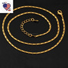 Factory Direct Fashion Simple 18KGP Thin Stainless Steel Chain Necklace