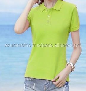 Fille de mode femmes polo chemises et polo shirt fabriqué au vietnam