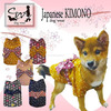 Japanese dog clothes Kimono by sewing company that makes world famous brands