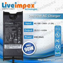 Replacement New 19.5V4.62A 90W ac charger For Dell Notebook Laptops