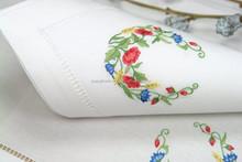 hand embroidery napkin,hemstitch napkin,linen napkin