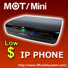 IP Phone Network, Reliability PBX VOIP Phone MOT/Mini, 6units 2calls FAX Function.