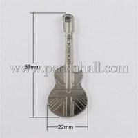 CCB Style Acrylic Pendants, Musical Instrument, Nickel, 57x22x2.5mm CCB-H956-N