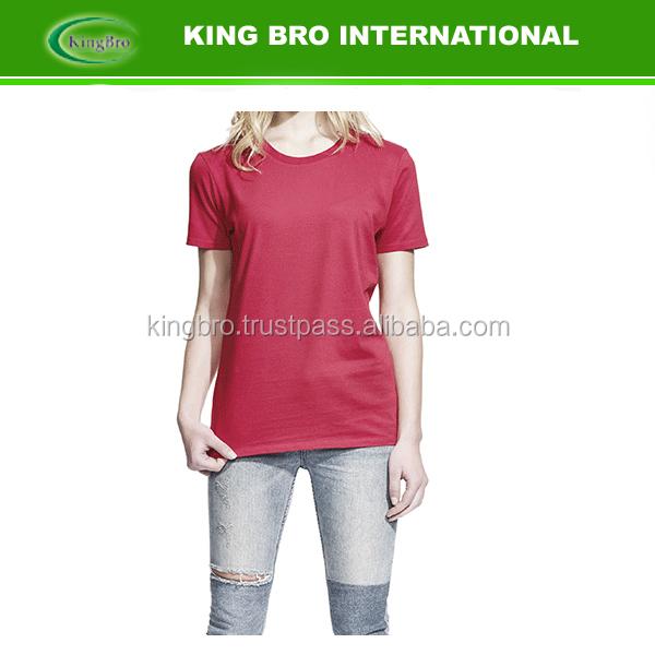 wholesale 100% cotton summer women t shirt printing