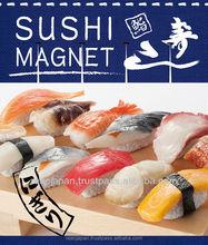 Japanese food sushi fridge magnet 12 types of Japanese popular sushi