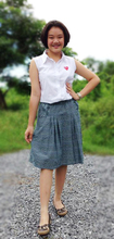 Lovely Fashion Skirt Casual Dress Made of Cotton 100%