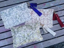 white horse leather clutch bag made in Japan