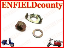 BRAND NEW VESPA GEARBOX EXTERNAL TAB WASHER KIT WITH NUT PX PE T5 LML