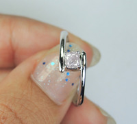 OVAL Diamond Ring 925 Sterling Silver With Pink Color ( KD43 )