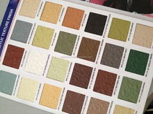 Texture finish color shade card