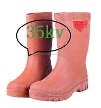 35kv electrical insulation boots rubber boots