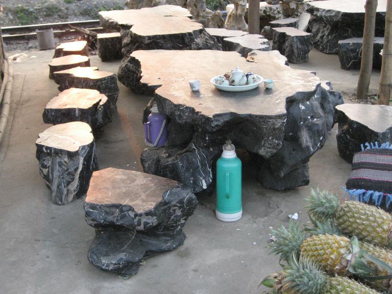 조각 대리석 돌 야외 테이블 의자-정원 세트 -상품 ID:180338049-korean ...