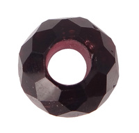 8-9x14-15mm Dark with Crystal Beads