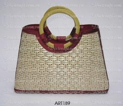 bamboo handbag multi design street art bag for lady bamboo handbag