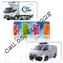 Refrigerated Truck,chiller van,Freezer pickup,reefer Trailer,Transportation Rental Dubai