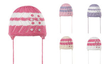 Knitted 100% cotton baby hats