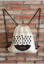 2015 customed size, color and logo cheap cotton drawstring bags