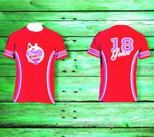 customized models in jerseys