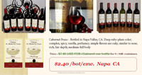 AMERICAN RED WINE DIRECT FROM NAPA CA. $2.40/BOT! BEST SALES IN China, HK, Taiwan, Macaw, Singapoure,Vietnam,