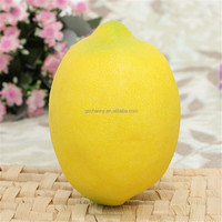 Hot Sale 1pc Lifelike Simulation Large Lemons Decorative Plastic Solid Artificial Fruit Yellow Cabinet Home Decor Party