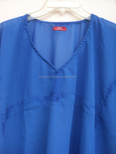 2015 plain dyed pattern kaftan dress for kids wear girls / georgette fabric garments for kids wear