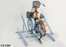 High quality Floor mounted dirt bike stands for public facilities, apartments etc.