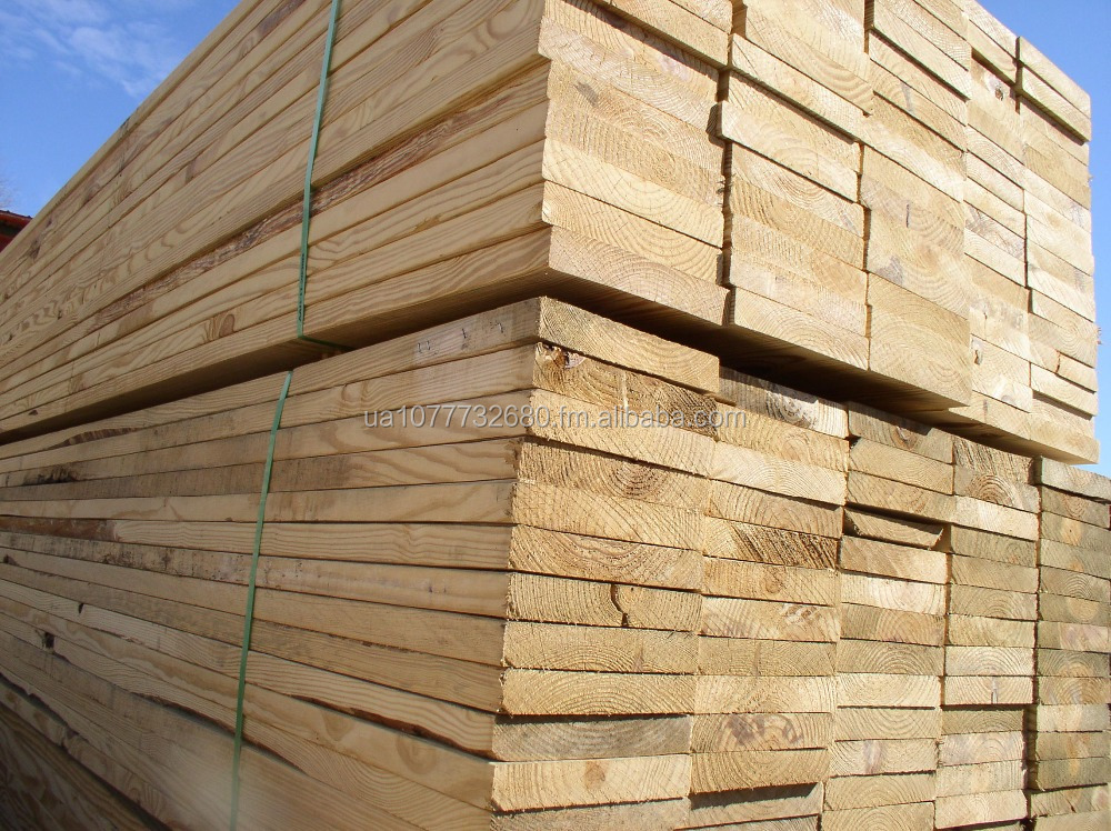 Kiln dried pine wood sawn timber for construction