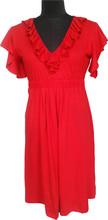 V neck Maternity dress frill neck and sleeves