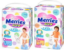 High water absorbency and Soft touch sleepy baby diaper baby diaper with multiple functions made in Japan