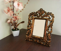 Antique Floral Mango Wood Single Photo Picture Frame Decorative Display Stand Album/Wooden Photo Frame 2015/Wooden Wall Art 2015