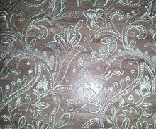 White coloured Embroidered Lace design