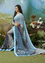 Wholesale printed saree\beautiful designer georgette printed saree\saree border