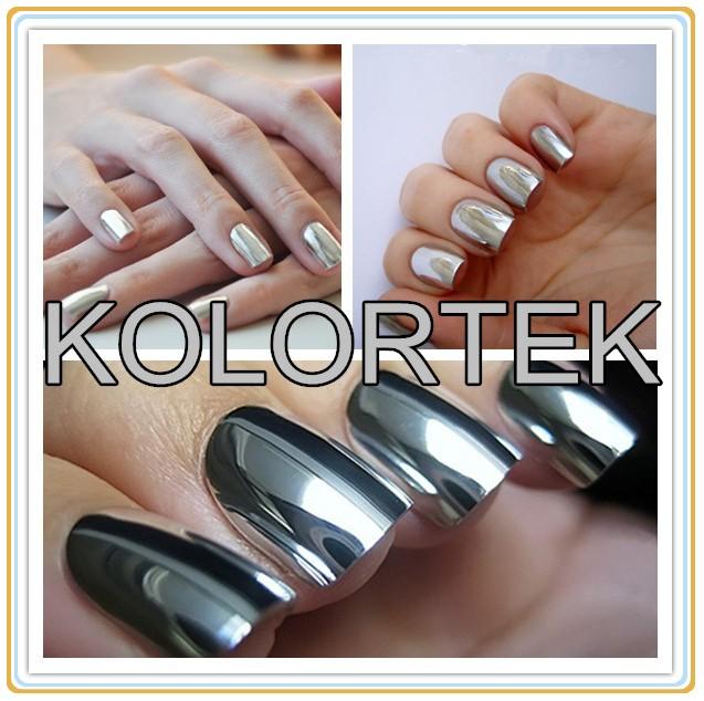 effet miroir chrome poudre nail argent mica poudre pour