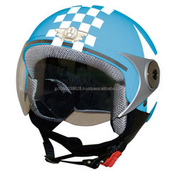 Fashionable and secure boy half face helmet for motorcycles, available in various designs
