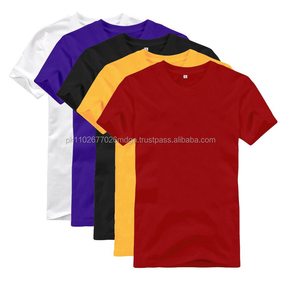 Wholesale Hemp And Cotton T Shirts Crew Neck Regular Fit