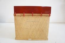 Bambú súper ventas y la laca bin de bambú decoración del hogar de bambú y laca bin