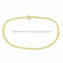 2015 Factory Wholesale 18 Karat Gold Plated Stainless Steel Chain Bracelet
