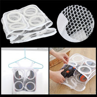Brand New Portable Sneaker Tennis Sports Shoe Dry Organizer Laundry Net Wash Portable Washing Hanging Bag Shoes Cleaner